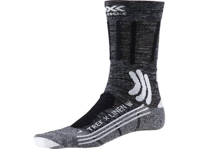 X-Socks Trek X Chaussettes en lin Femme, dolomite grey melange/opal black